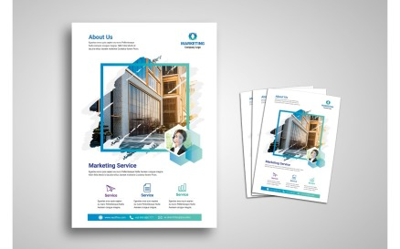 Flyer Template Marketing Corporate Identity