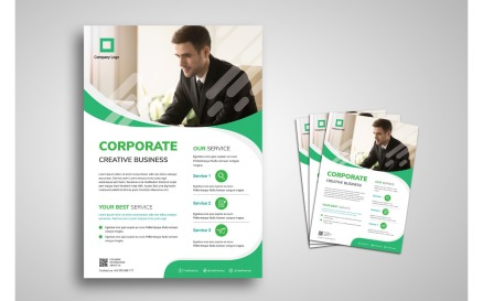 Flyer Template Corporate Business Corporate Identity