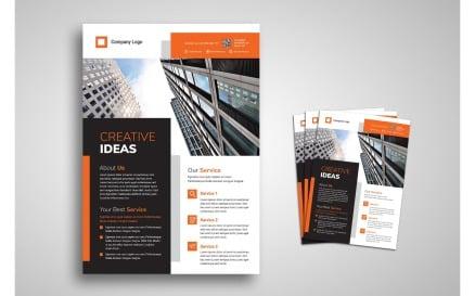 Flyer Template Creative Ideas Corporate Identity