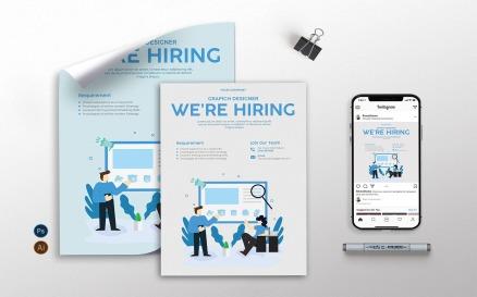 Job Hiring - Flyer, Poster & Instagram KF Corporate Identity