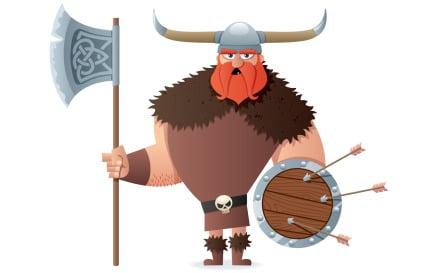 Viking on White Illustration