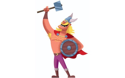Viking on White 2 Illustration