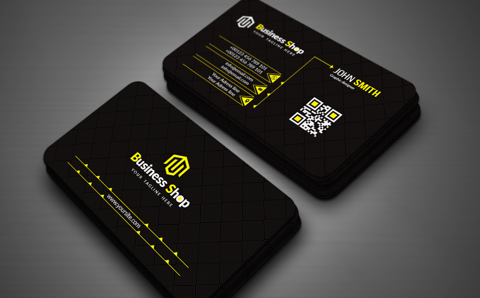 """Black Business card"" 企业设计模板 #154328"