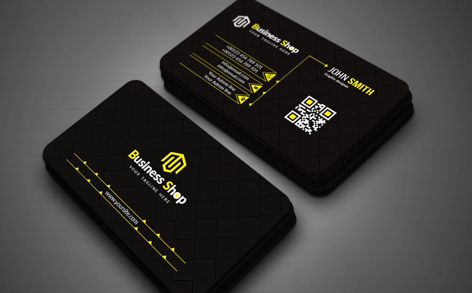 """Unternehmensidentität Vorlage namens """"Black Business card"""" #154328"""