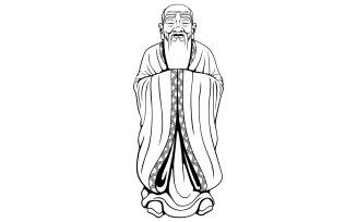 Wise Man Line Art