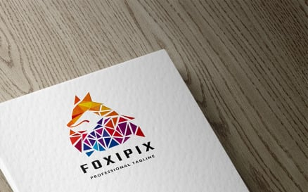 Pixel Fox Logo Template