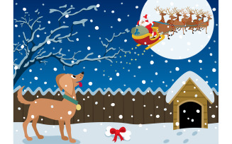 Winter Scene - Illustration