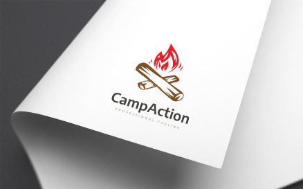 Camp Action Logo Template