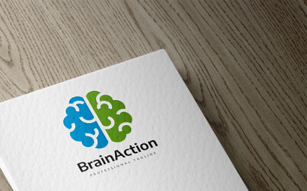 Brain Action Logo Template