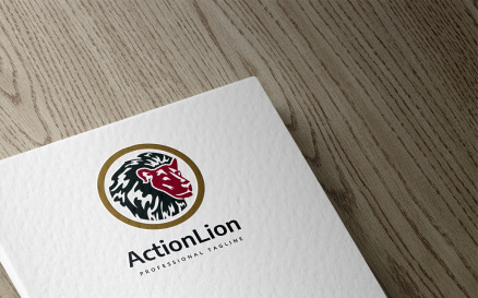 Action Lion Logo Template
