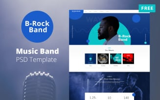 B-Rock Band - Music Band Website Free