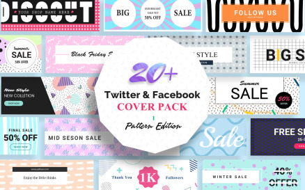 Facebook And Twitter Cover Social Media