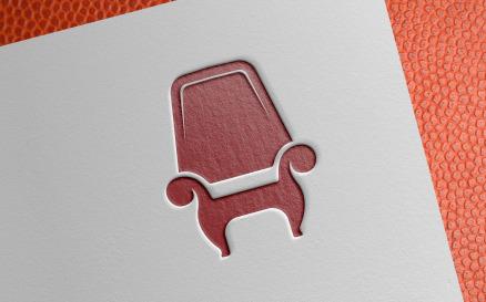 Simple Chair Furniture Logo Template