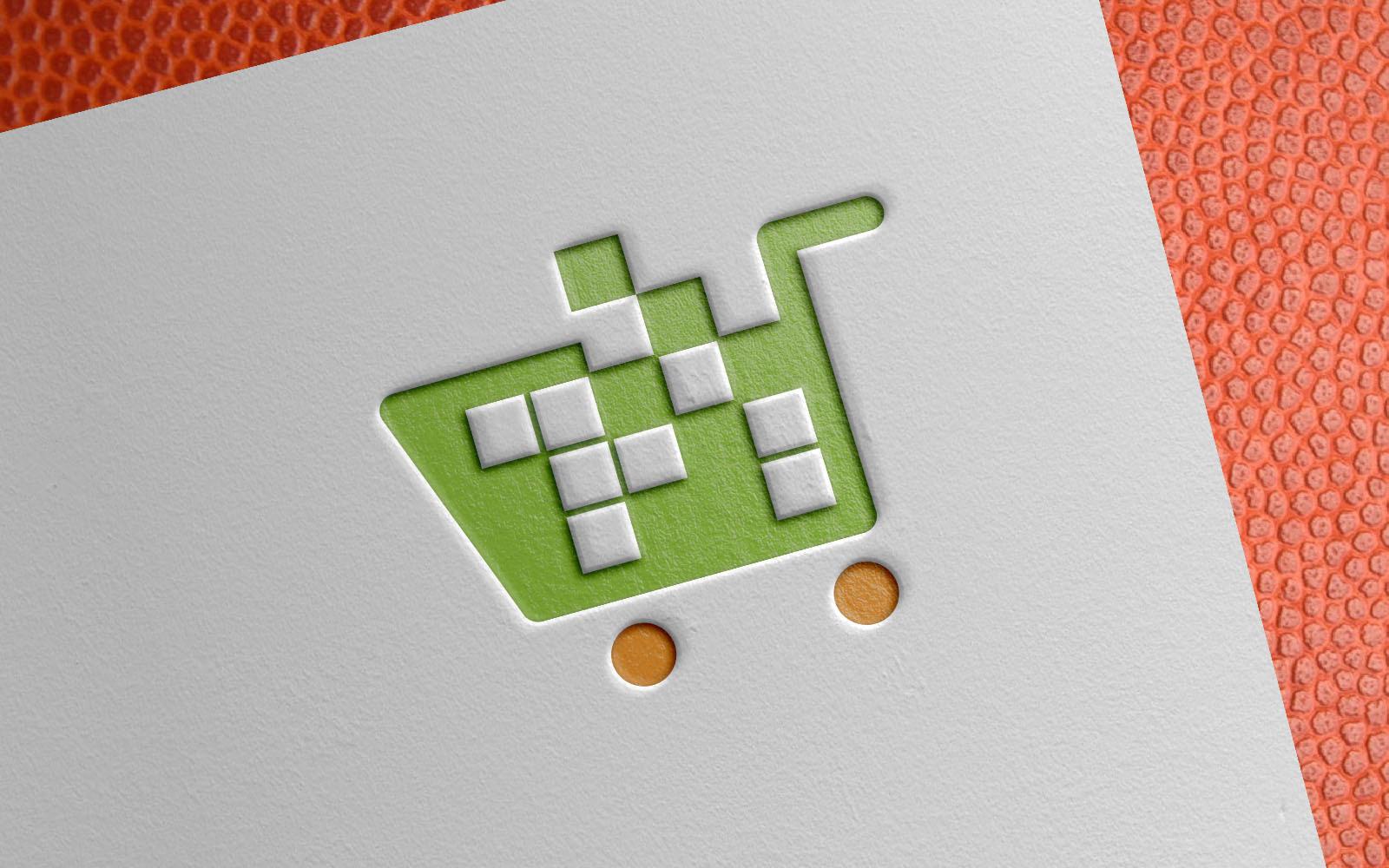 Digital Pixel Shopping Cart Template de Logotipo №154926