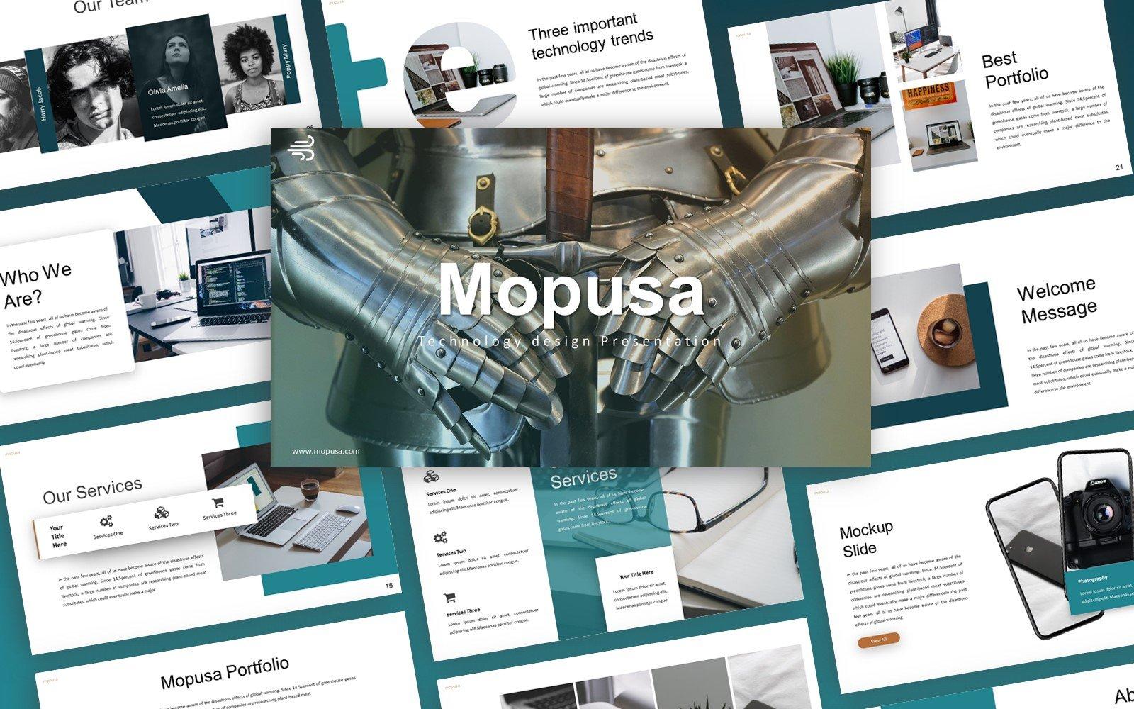"PowerPoint šablona ""Mopusa Technology Presentation"" #155051"