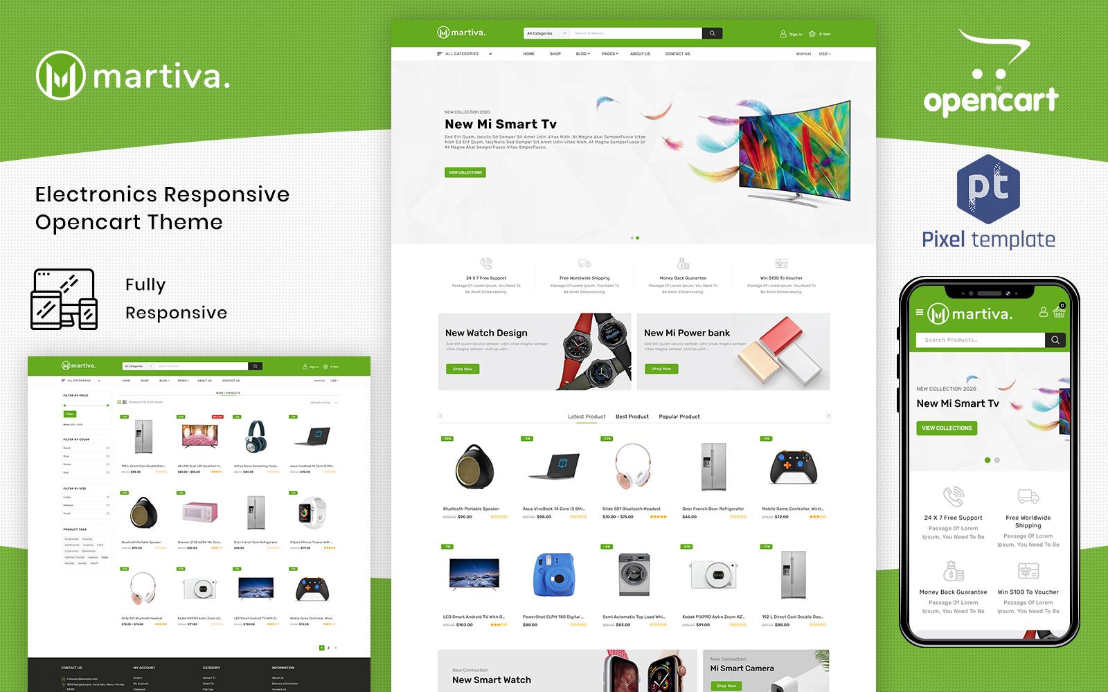 Responsywny szablon OpenCart Martiva - Mega Multipurpose #155076