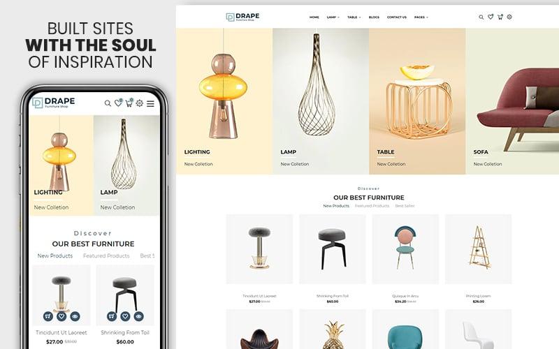 "Responzivní Shopify motiv ""Drap - Furniture & Interior Bootstrap"" #155074"