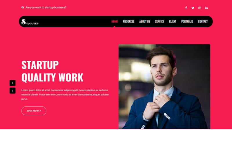 """Startup - Business"" 响应式着陆页模板 #155077"