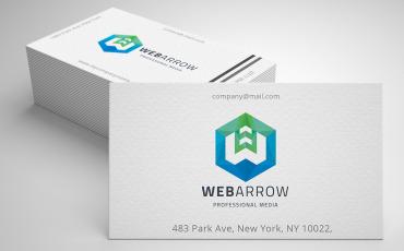 Web Arrow Letter W Logo Template