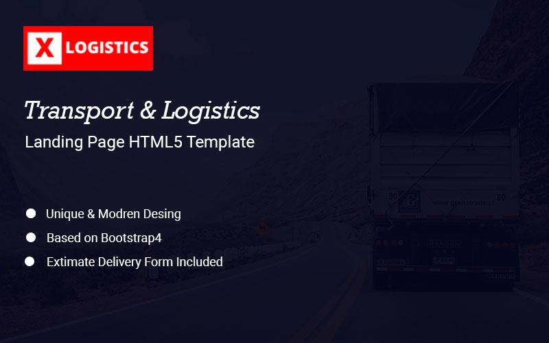 """xLogistic - Transportation & Logistics"" 响应式着陆页模板 #155075"