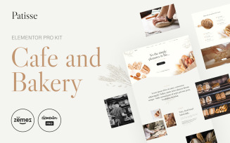 Patisse - Elementor Pro Cafe and Bakery Elementor Kit