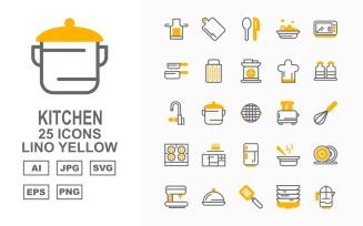 25 Premium Kitchen Lino Yellow
