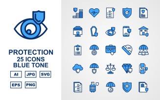 25 Premium Protection Blue Tone