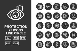 25 Premium Protection Line Circle