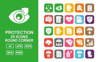 25 Premium Protection Round Corner