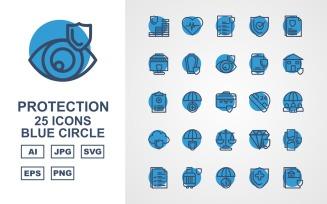 25 Premium Protection Blue Circle