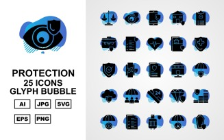 25 Premium Protection Glyph Bubble