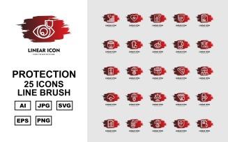 25 Premium Protection Line Brush