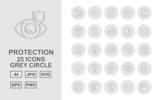 25 Premium Protection Grey Circle