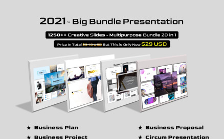 Big Bundle 20 in 1 - Multipurpose PowerPoint Template