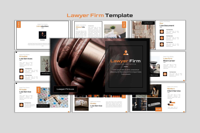 """Lawyer Firm - Creative Business"" modèle PowerPoint Premium #155594"