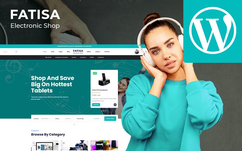 """Fatisa - Electronics"" Responsive WooCommerce Thema №155667"