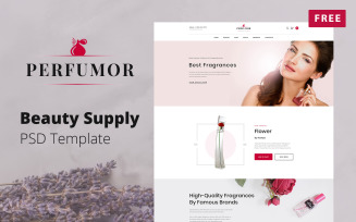 Perfumor - Beauty Supply Store Website Free PSD Template