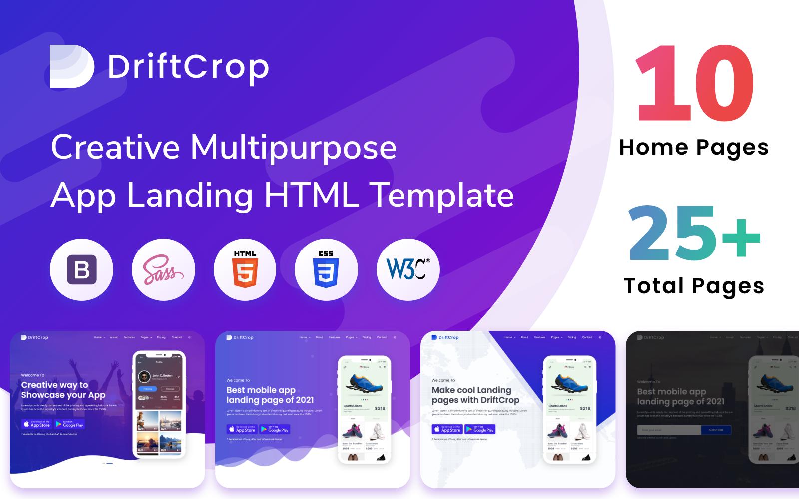 Responsive DriftCrop - Clean Multipurpose Açılış Sayfası #155659
