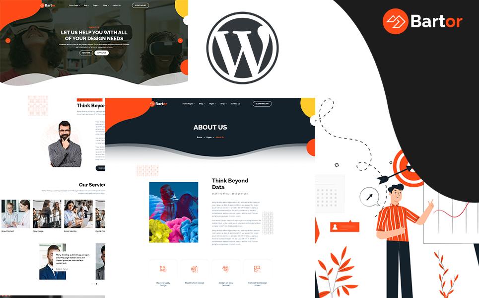 "Template WordPress Responsive #155668 ""Bartor - Portfolio"""