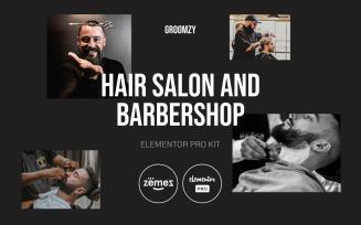 Groomzy - Elementor Pro Hair Salon and Barbershop Kit