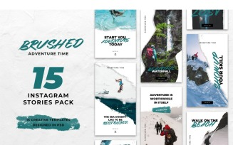 Instagram Template Brushed Adventure Time for Social Media