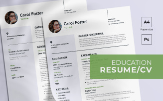 Education Free Resume Template