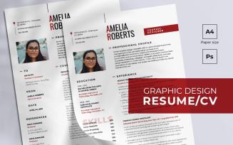 Free Graphic Design Resume Template