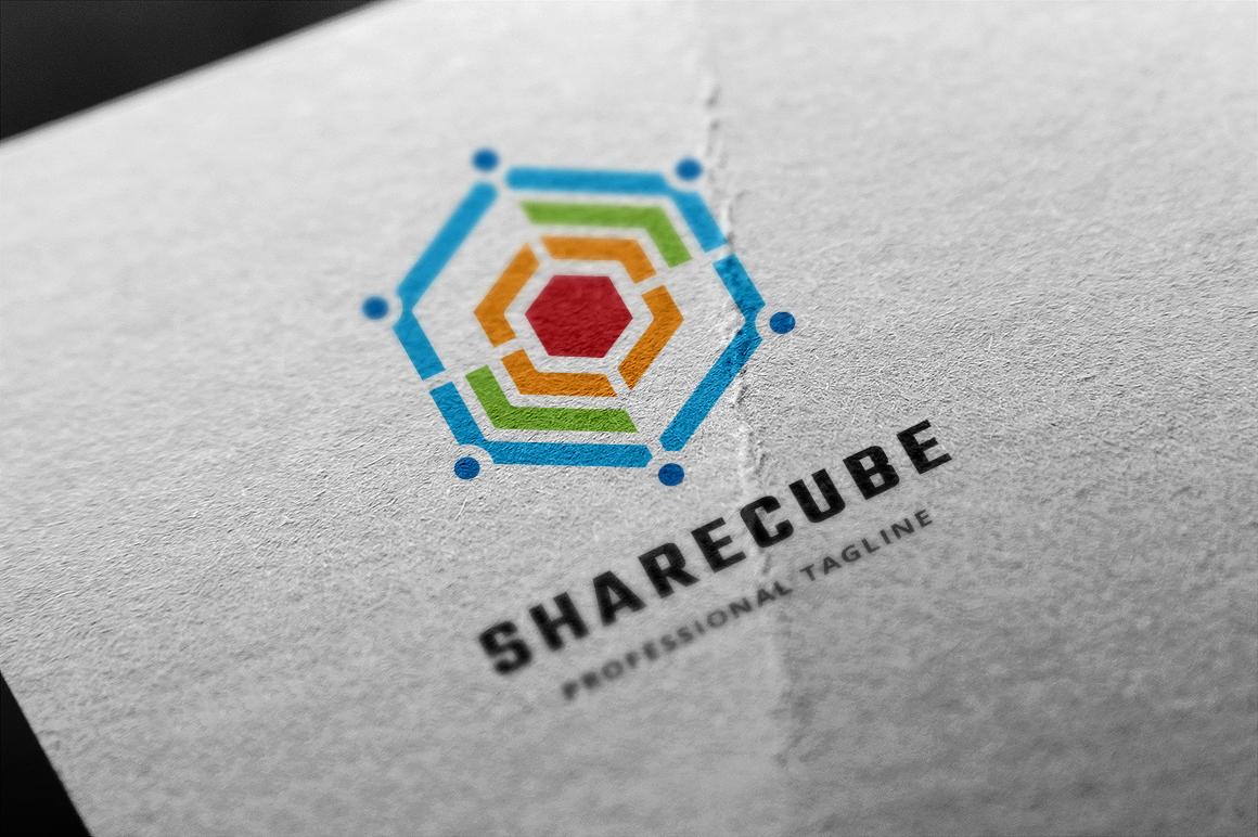 Share Cube Template de Logotipo №155996