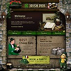 Flash: Flash Site Cafe and Restaurant Most Popular Flash 8 St. Patrick Green Templates Brewery Templates