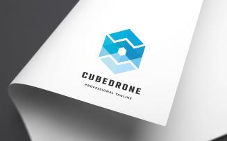 Cube Drone Logo Template