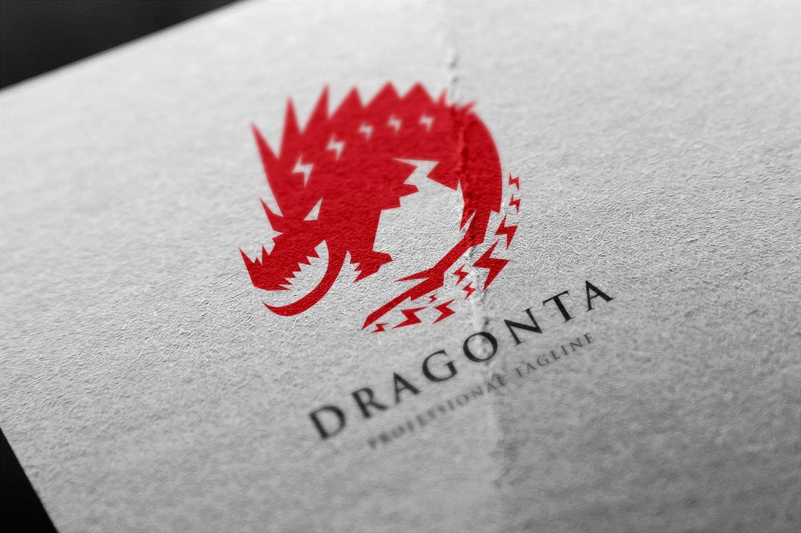 Dragon Template de Logotipo №156021