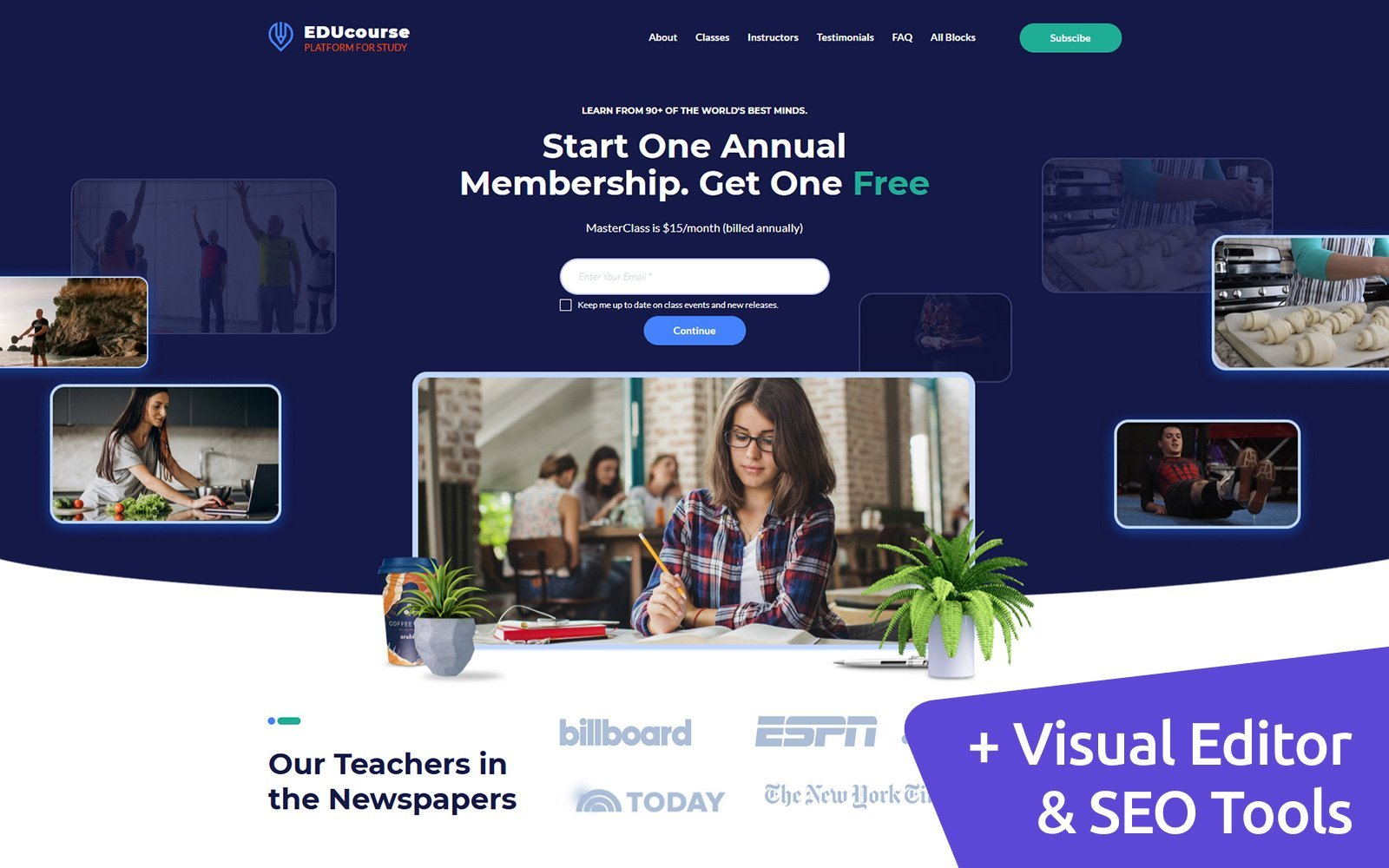 EDUcourse - Online Educational Course Landing Page-mall #156071