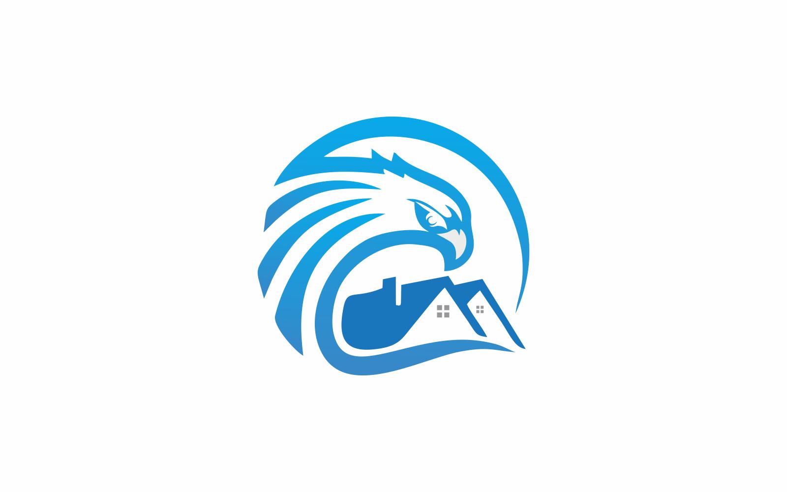 House Eagle Template de Logotipo №156006