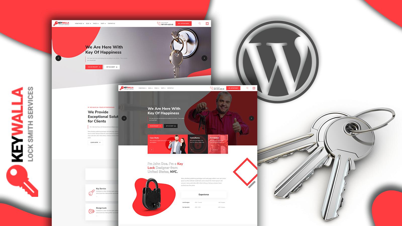 """Keywalla- Key Service and Shop"" Responsive WooCommerce Thema №156072"